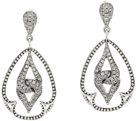 Scott Kay Guardian Diamonique & Sterling Drop Earrings - J320787