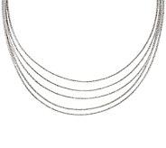 Italian Silver Sterling 16 Multi-Strand Omega Necklace, 44.1g - J320887