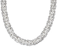 Sterling Silver 18 Byzantine Necklace by Silver Style, 57.0g - J321187