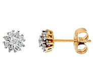 Diamond Stud Earrings, 14K Gold, 1/3 cttw, by Affinity - J324587