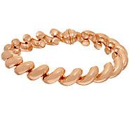 Bronze Polished San Marco Magnetic Clasp Bracelet by Bronzo Italia - J325087