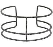 As Is Vicenza Silver Sterling Diamond Cut Triple Bar Cuff - J325587