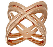 As Is Bronzo Italia Polished Double Crossover Ring - J325987