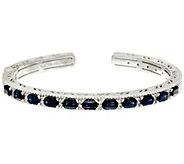 Judith Ripka Sterling Sapphire & White Topaz Cuff Bracelet - J327387