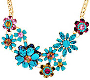 Joan Rivers Simulated Turquoise Floral Garden Necklace - J327787