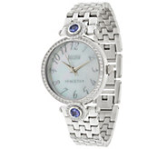 Ecclissi Facets Stainless Steel 2.60 cttw Tanzanite & Zircon Watch - J329187