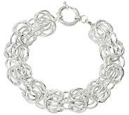 Sterling Silver Rosetta Fancy Woven 6-3/4 Bracelet, 17g by Silver Style - J329287