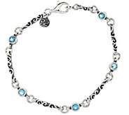 Sterling Silver Gemstone Station Bracelet by Or Paz - J329387