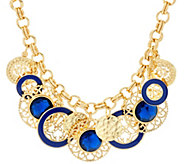 C. Wonder 20 1/2 Rolo Link Statement Necklace with Charm Stations - J331487