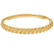 Italian Gold Average Diamond Cut Hinged Bangle 13.1g - J331587