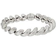As Is Vicenza Silver Sterling 7-1/4 Satin San Marco Bracelet, 22.2g - J332187