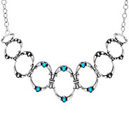 Sterling Silver Sleeping Beauty Turquoise Statement Necklace - J334087