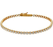 Diamonique 3.40 cttw 6-3/4 Tennis Bracelet 14K Gold - J335087
