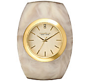 Caravelle New York Womens Goldtone Glossy HornBangle Watch - J336587