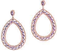 Graziela Gems Tanzanite Pear-Shape Earrings, Sterling/18K Ros - J337087