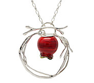 Kalos by Hagit Sterling Pomegranate Glass Pendant & Necklace - J337287