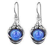 Kalos by Hagit Sterling Pools of Color Glass Drop Earrings - J337487