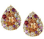Sterling & Yellow Bronze Multi-Gemstone Earrings - J338187