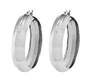 Sterling 1-5/8 Bold Polished Round Hoop Earrings - J338787