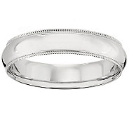 Platinum 5mm Milgrain Comfort Fit Wedding BandRing - J340287