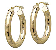 EternaGold 1 Polished Tube Hoop Earrings, 14KGold - J340487