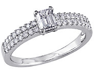 Emerald-Cut Diamond Ring, 3/4ttw 14K White Goldby Affinity - J340887