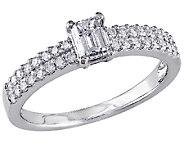 Emerald-Cut Diamond Ring, 3/4ttw 14K White Goldby Affinity - J340887