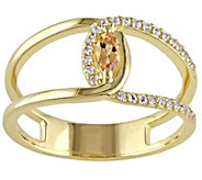 Citrine & White Topaz Ring, Sterling - J341687