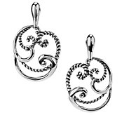Carolyn Pollack Signature Sterling Round Swirl Drop Earrings - J342287