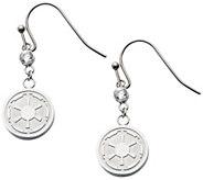 Star Wars Stainless Steel Galactic Empire Dangle Earrings - J342687