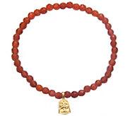 Satya 3.5mm Gemstone Bead Bracelet, Goldtone Brass - J342887