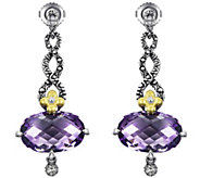 Barbara Bixby Sterling & 18K 12.50 cttw Amethyst Earrings - J343287