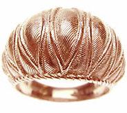 Judith Ripka 14K Rose Gold Clad Textured DomedRing - J345787