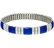 Stainless Steel Stretch Colored Glitter Bracelet - J348187