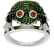 Judith Ripka Sterling Silver Gemstone Frieda Frog Ring, 2.60 cttw - J349787