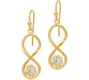 Diamonique 1.00 cttw Twisted Dangle Earrings Sterling - J349987