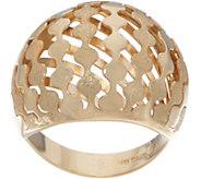 14K Gold Domed Satin Finish Ring - J350887