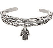 Or Paz Sterling Silver Charm Dangle Cuff - J354987