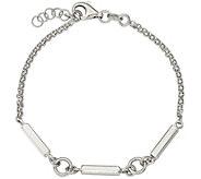 Sterling Bar Link 7 Bracelet, 4.3 grams by Silver Style - J375887