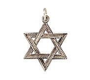 Sterling Florentine Star of David Medal - J108288