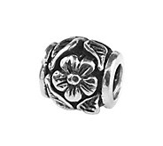 Prerogatives Sterling Flower and Leaf Bead - J108588