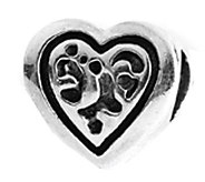 Prerogatives Sterling Openwork Heart Bead - J109288