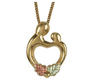 Black Hills Mother and Child Heart Pendant, 10K /12K Gold - J113788