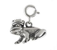 Sterling Frog Prince Charm - J113888