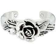 Sterling Silver Bold Rose Cuff by Or Paz - J277388