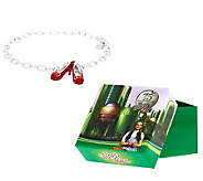 Wizard of Oz Ruby Slipper Charm Bracelet w/ Box - J283988