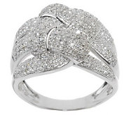 Woven Design Diamond Ring, 14K Gold, 3/4 cttw, by Affinity - J284088