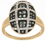 0.40 ct tw Alexandrite & 1/7 ct tw Diamond Oval Ring, 14K Gold - J284788