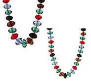 As Is Joan Rivers Set of 2 Faceted Bead Necklaces - J288588