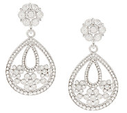 Judith Ripka Sterling Diamonique Drop Earrings - J296488